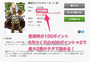 FODでは漫画「東京卍リベンジャーズ」が無料で2冊読める。